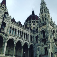 Parliament in the Pest side of Budapest
